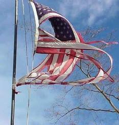 tatteredusflag