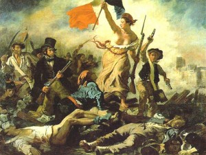 french revolution delacroix 300x226 The Love of Liberty Versus the Hatred of Oppression